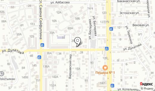 Монетка. Схема проезда в Алматы