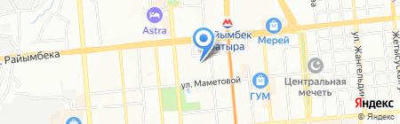 Ясли-сад №30 на карте Алматы