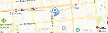 Нотариус Жунусов К.Ш. на карте Алматы