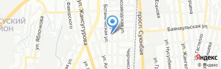 Владимирские бани на карте Алматы