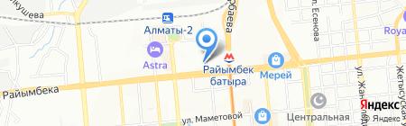 Улдар на карте Алматы