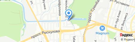 Баня №11 на карте Алматы