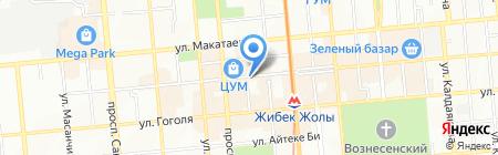 Похоронное агентство на проспекте Жибек Жолы на карте Алматы