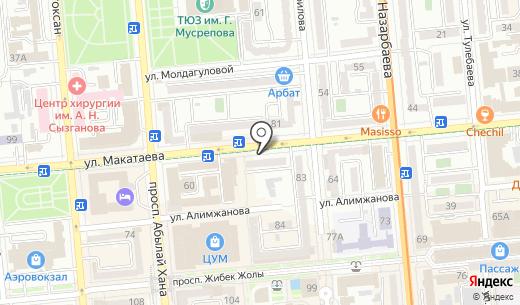 Казкоммерцбанк. Схема проезда в Алматы