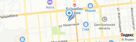 Перерывчик на карте Алматы