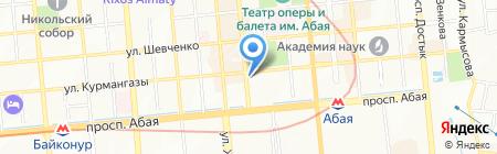 Renaissance на карте Алматы