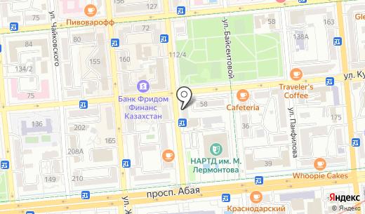Renaissance. Схема проезда в Алматы