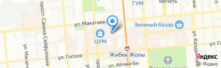 MANGO магазин женской одежды на карте Алматы