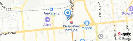 Акко на карте Алматы