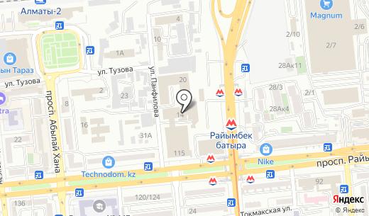 Экоком. Схема проезда в Алматы