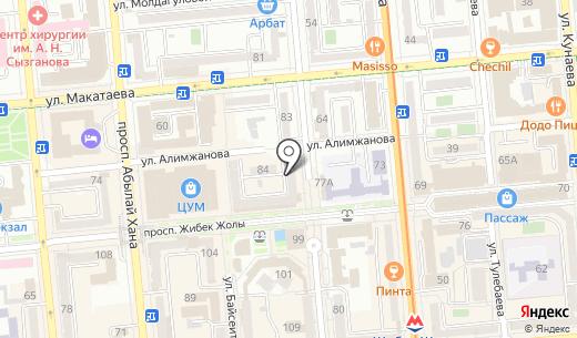 Falcon Flight. Схема проезда в Алматы