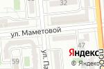 Схема проезда до компании Anex tour в Алматы