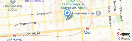 Дубль В Евразия на карте Алматы