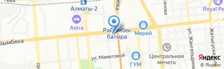 Аида на карте Алматы