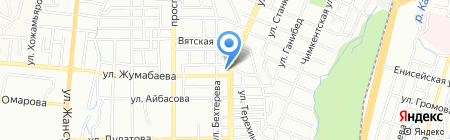 Абдулла на карте Алматы