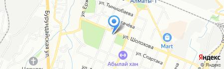 Общеобразовательная школа №76 на карте Алматы
