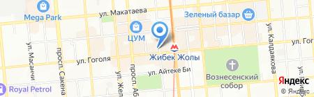 Центр градостроительного проекта на карте Алматы