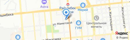 Участковый пункт полиции №23 Алмалинского района на карте Алматы