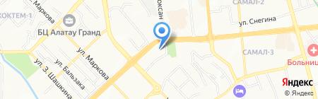 Казкоммерц секьюритиз на карте Алматы