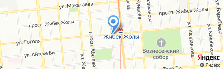Станция Жибек Жолы на карте Алматы