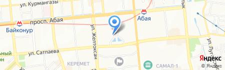 Казкоммерцбанк на карте Алматы
