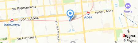 Нотариус Имашева Л.А. на карте Алматы