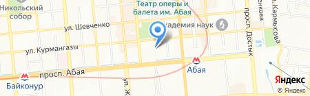 Дана на карте Алматы