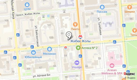 CANALI. Схема проезда в Алматы