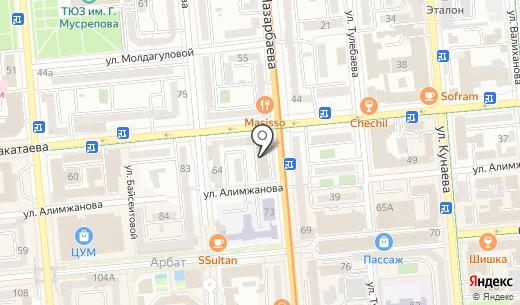ROX Production. Схема проезда в Алматы