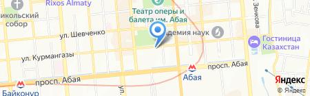 Нотариус Айсариева Б.Д. на карте Алматы