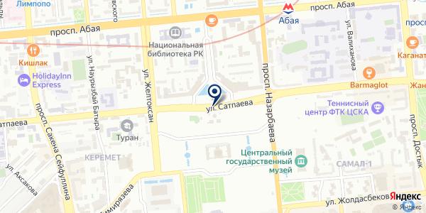 Лазерный центр им. Раевского В.В. на карте Алматы
