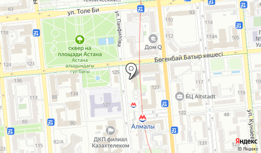 JAM Events. Схема проезда в Алматы