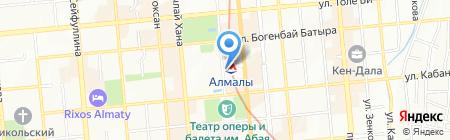 Станция Алмалы на карте Алматы