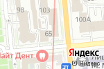 Схема проезда до компании J & S в Алматы