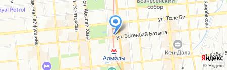 Какаду на карте Алматы