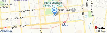 Меха на карте Алматы
