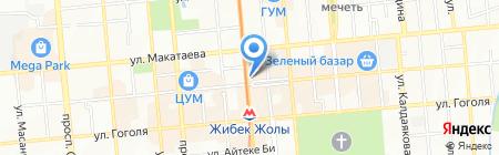 Королева бала на карте Алматы