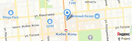 На Арбате на карте Алматы