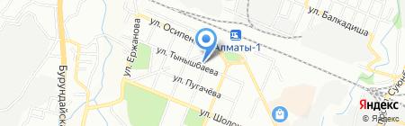 Аспан на карте Алматы