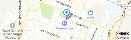 Нотариус Бондарева Л.А. на карте Алматы