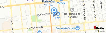 АЮК на карте Алматы