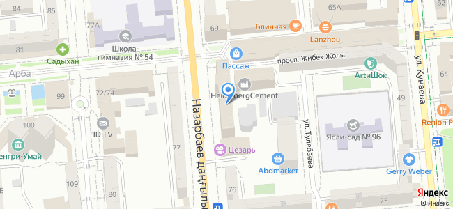 Казахстан, Алматы, проспект Назарбаева, 50