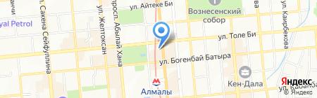 Нотариус Нарбекова З.А. на карте Алматы