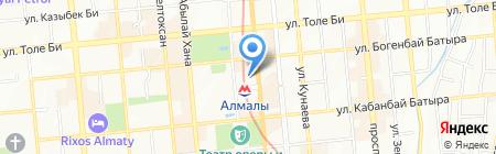 Ассоциация национальных экспедиторов Республики Казахстан на карте Алматы