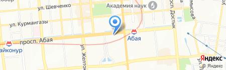 Нотариус Котиева Я.М. на карте Алматы
