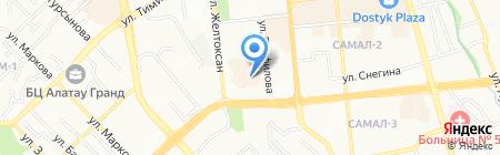Током на карте Алматы
