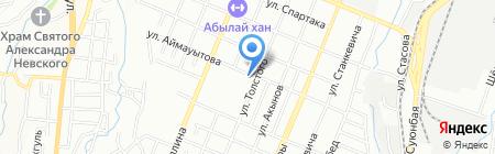 Алаш на карте Алматы
