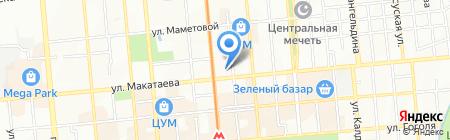 Салем на карте Алматы