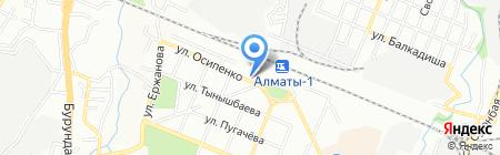 Наяда на карте Алматы