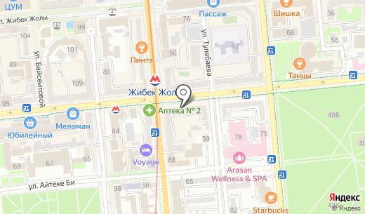 Москва. Схема проезда в Алматы
